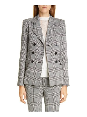 Adam Lippes double breasted plaid wool blazer