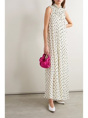 Adam Lippes flocked silk-blend crepon gown