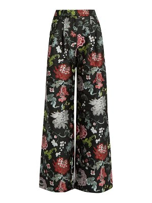 Adam Lippes floral-jacquard wide-leg trousers