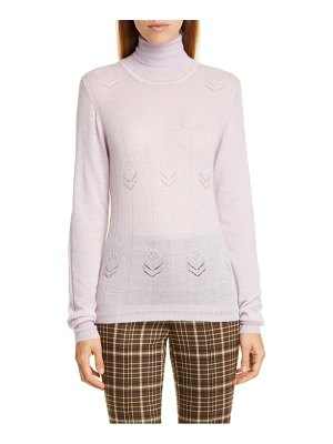 Adam Lippes floral pointelle cashmere sweater