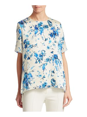 Adam Lippes hammered silk floral top