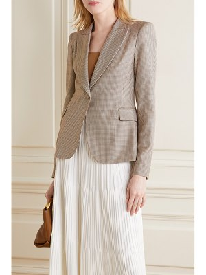 Adam Lippes houndstooth silk and wool-blend blazer