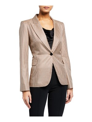 Adam Lippes Houndstooth Single-Breasted Blazer