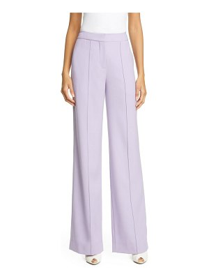 Adam Lippes pintuck tropical stretch wool wide leg pants