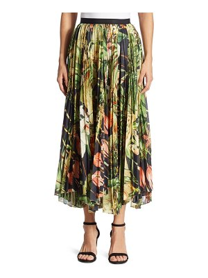 Adam Lippes Pleated Printed Skirt