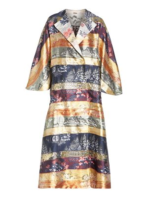Adam Lippes reversible silk lame jacquard coat
