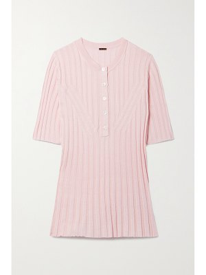 Adam Lippes ribbed silk and cashmere-blend top