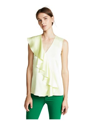 Adam Lippes sleeveless ruffle top