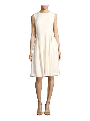Adam Lippes Solid Pleated Dress