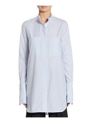 Adam Lippes Striped Cotton Blouse
