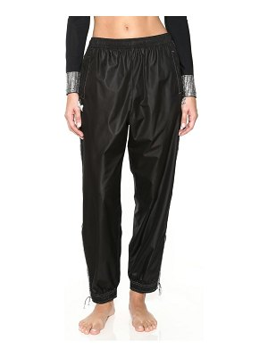 Adam Selman embellished track pants