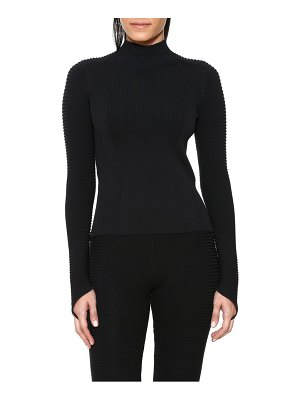 Adam Selman rib knit mock neck top