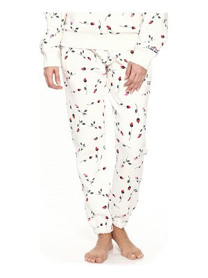 Adam Selman Sport rose print unisex sweatpants