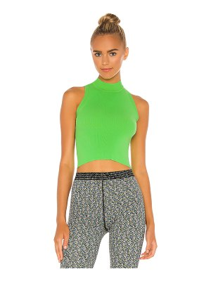 Adam Selman Sport sleeveless mock neck top