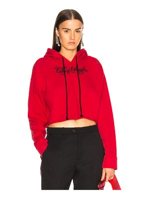 Adaptation Embroidered Cropped Hoodie