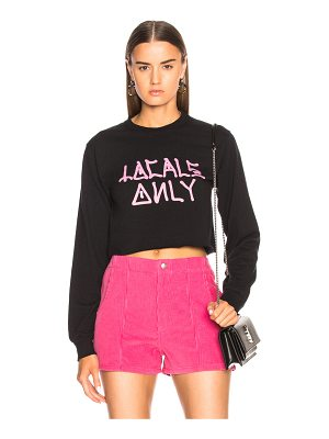 Adaptation Locals Only Cropped Tee