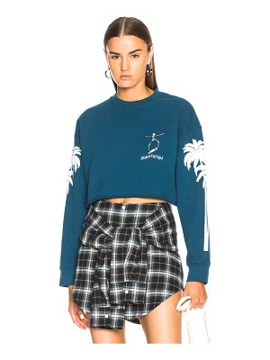 Adaptation Palm Sleeve Crop Sweatshirt