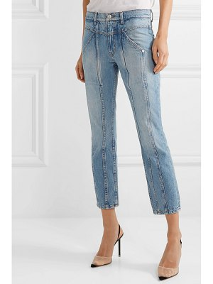 Adaptation rider cropped paneled high-rise skinny jeans