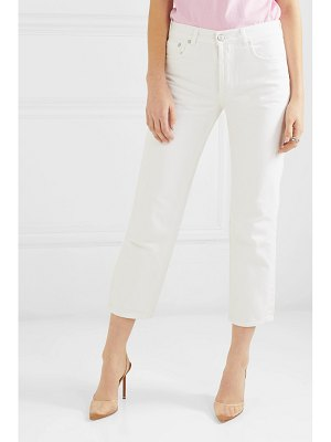 Adaptation slouch cropped mid-rise straight-leg jeans