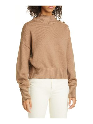 Adeam angel hair button shoulder sweater