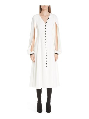 Adeam button front split sleeve dress