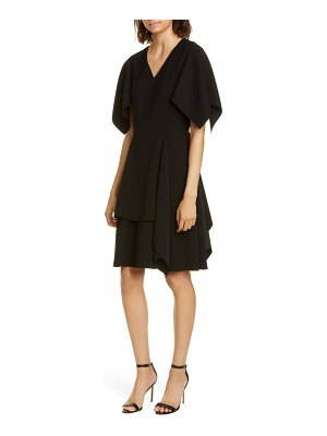Adeam flutter sleeve crepe dress