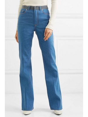 Adeam grosgrain-trimmed mid-rise flared jeans