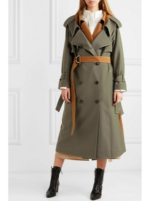 Adeam layered wool-blend gabardine trench coat