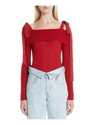Adeam off the shoulder sweater