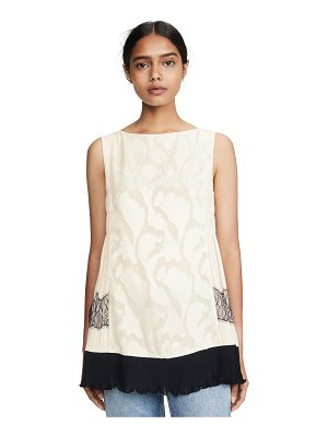 Adeam pleated lace top