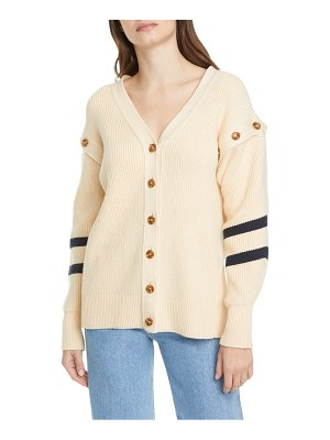 Adeam sailor angel hair removable sleeve cotton blend cardigan