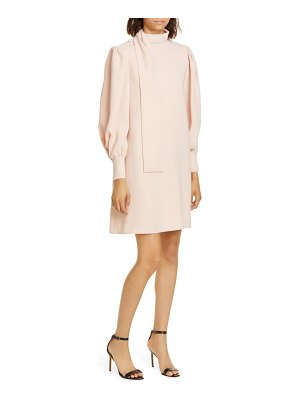 Adeam scarf neck long sleeve crepe shift dress