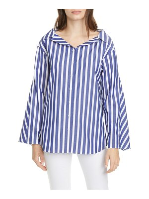 Adeam stripe bell sleeve cotton shirt