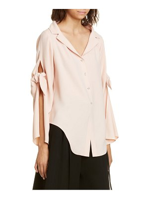 Adeam tie sleeve crepe blouse