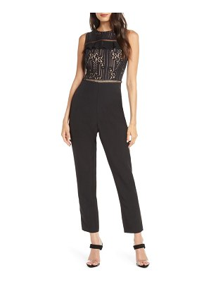 Adelyn Rae anna lace bodice jumpsuit
