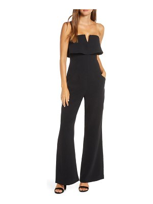 Adelyn Rae anora strapless popover cocktail jumpsuit