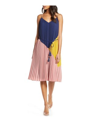 Adelyn Rae colorblock pleated dress