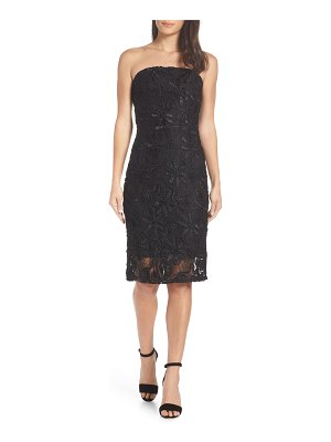 Adelyn Rae healy strapless lace sheath dress
