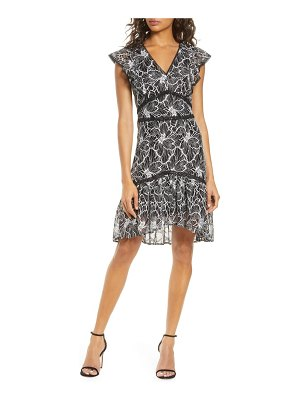 Adelyn Rae jacey lace fit & flare dress