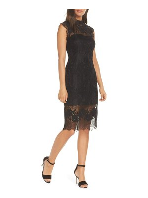 Adelyn Rae naila mock neck lace dress
