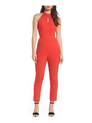 Adelyn Rae shaylie scalloped back jumpsuit