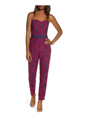 Adelyn Rae sonya lace strapless jumpsuit