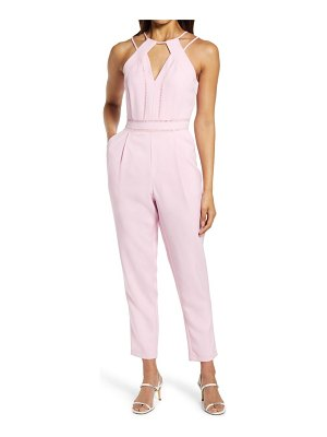 Adelyn Rae strappy halter jumpsuit
