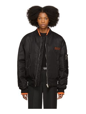 Ader Error Black Down Logo Bomber Jacket