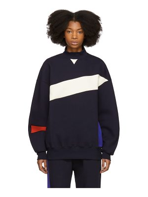 Ader Error Colorblock Mock Neck Sweatshirt