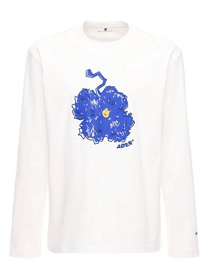 Ader Error Floral embroidery cotton t-shirt