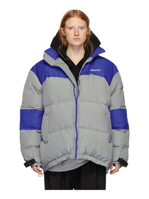 Ader Error grey and blue down dup puffer jacket