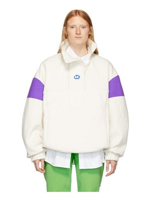 Ader Error off-white and purple able neck pullover hoodie
