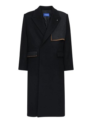 Ader Error Oversize double breasted wool blend coat