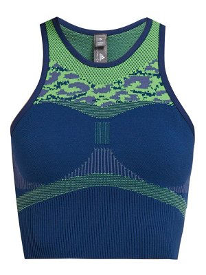 adidas by Stella McCartney primeknit performance racerback cropped top